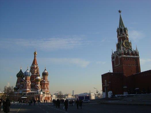 Praça vermelha - Catedral St Basilico e Kremlin - Moscou