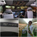 O MD participou da chegada do Boeing 787 ao Brasil