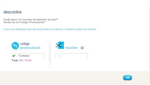 Código promocional AZUL