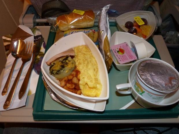 Café-da-manhã servido no voo EK-248 RIO x DUBAI
