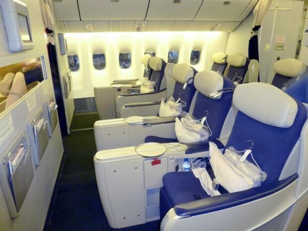 Configuração da primeira parte da executiva, logo atrás da primeira classe