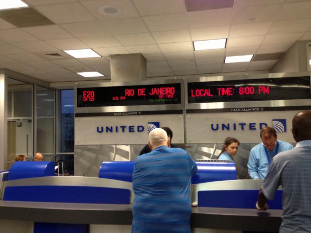 Check-in em Houston para o Rio