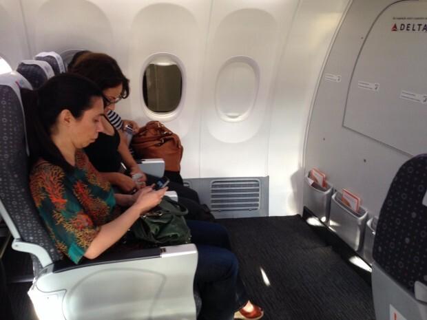 Novos assentos GOL+ na primeira fileira do Boeing 737-800