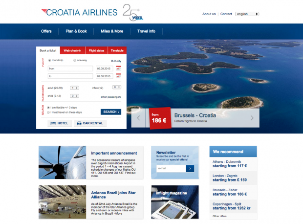 como-e-voar-croatia-airlines-website