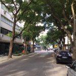 Vista lateral da rua (esq)