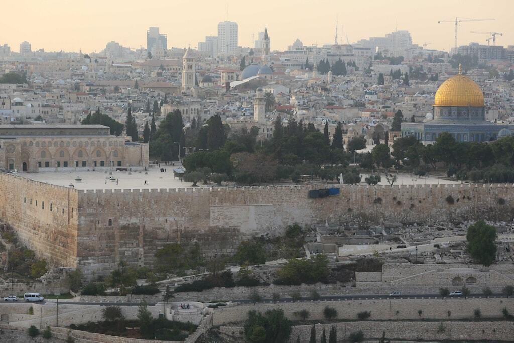 Jerusalém vista no alto do Monte das Oliveiras Israel