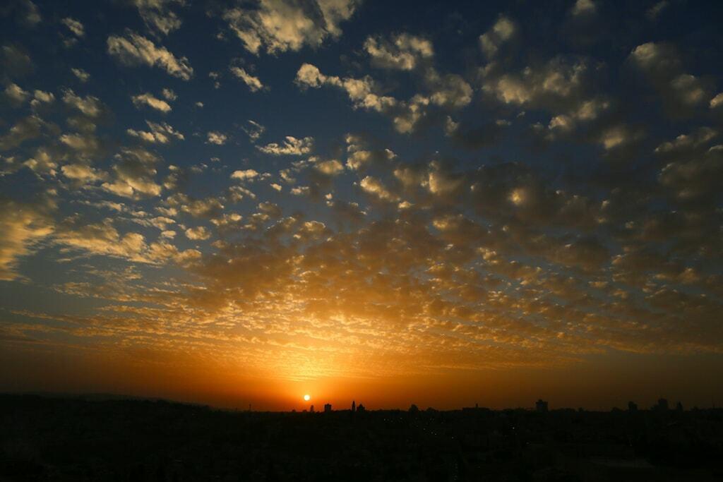 Israel Pôr do sol no Monte das Oliveiras