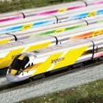 Five Brightline Trains
