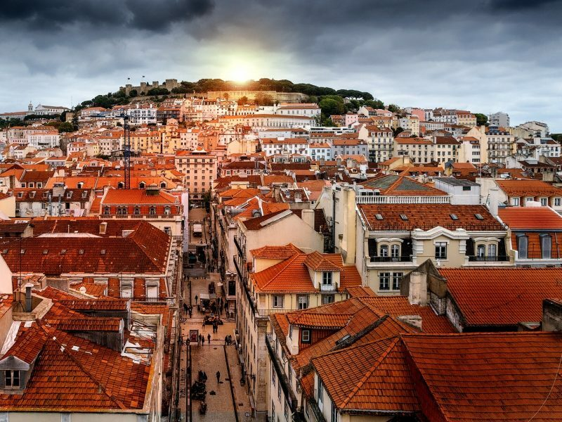 Pôr do Sol na bela Lisboa