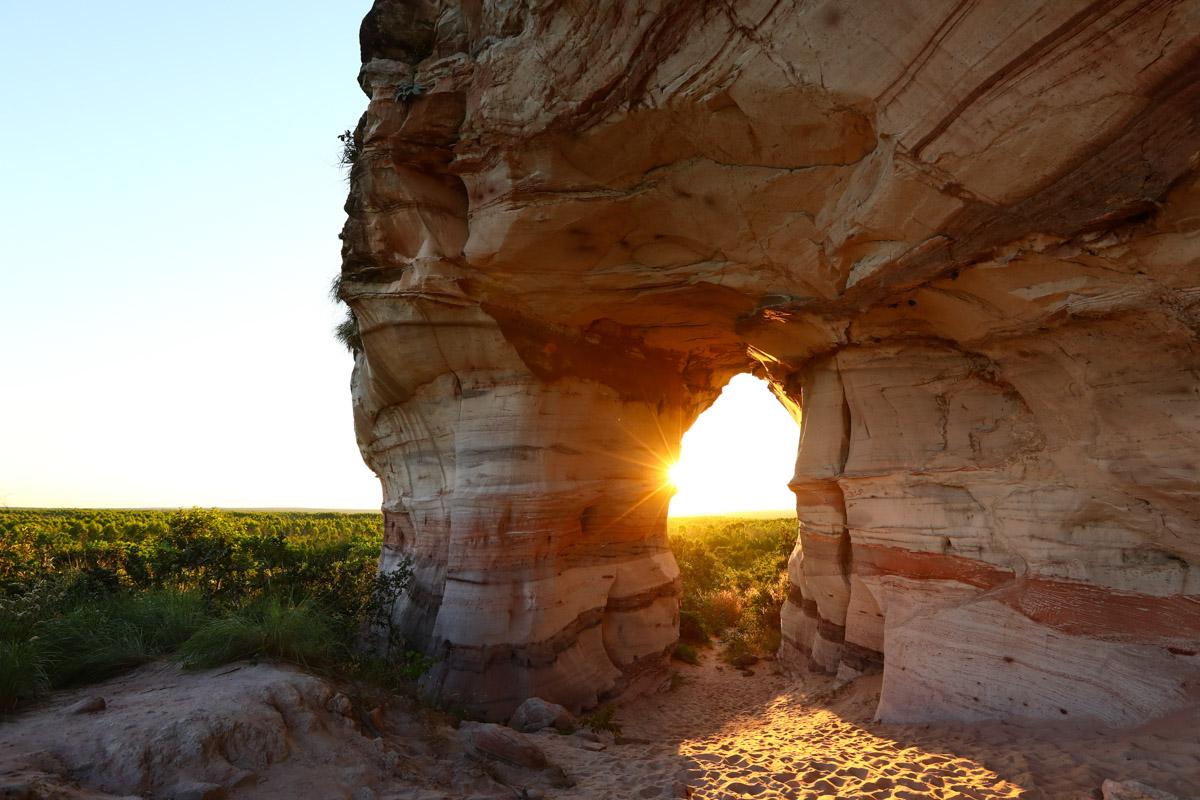 Pôr do sol na Pedra Furada