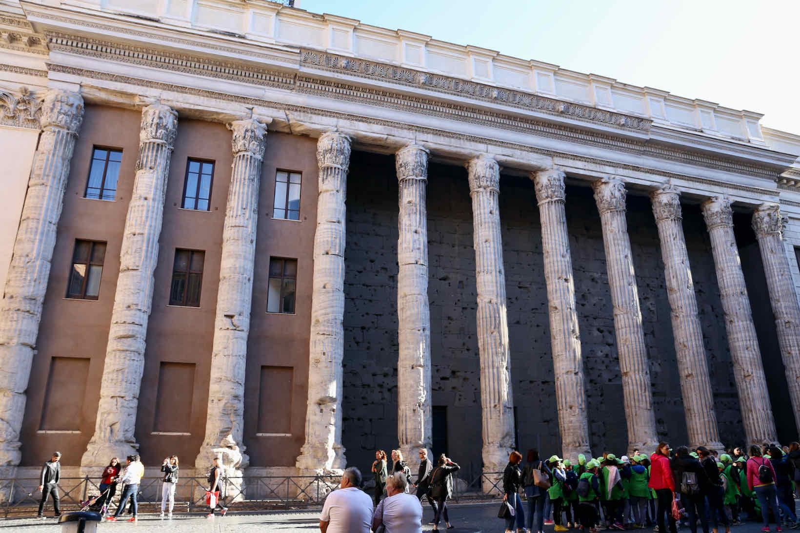 passeios em roma templo de adriano
