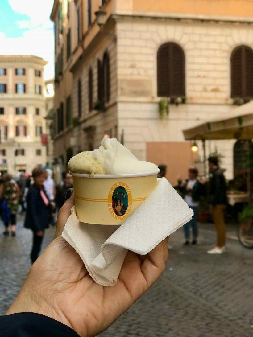 dicas gelato em roma
