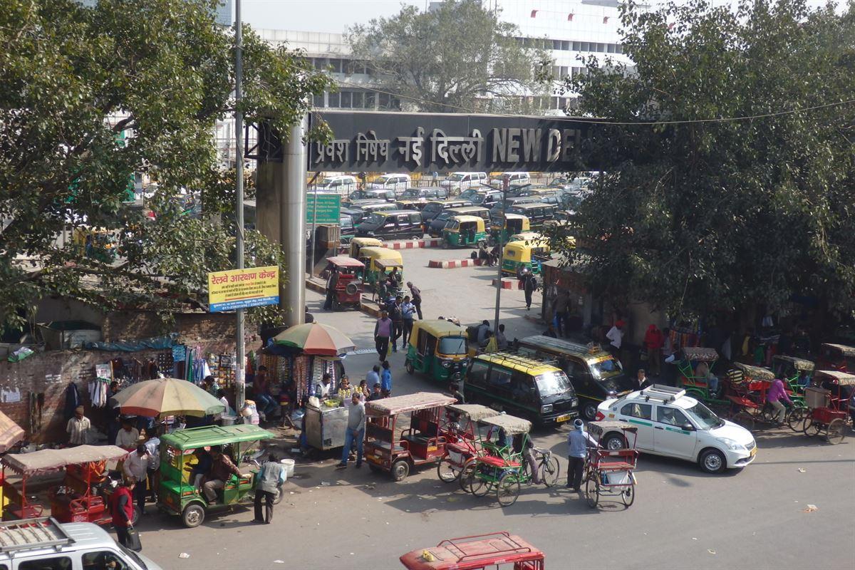 Ruas de Nova Déli, Índia