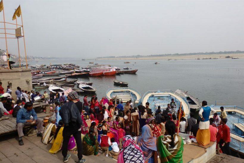 Barcos em Varanasi, Índia