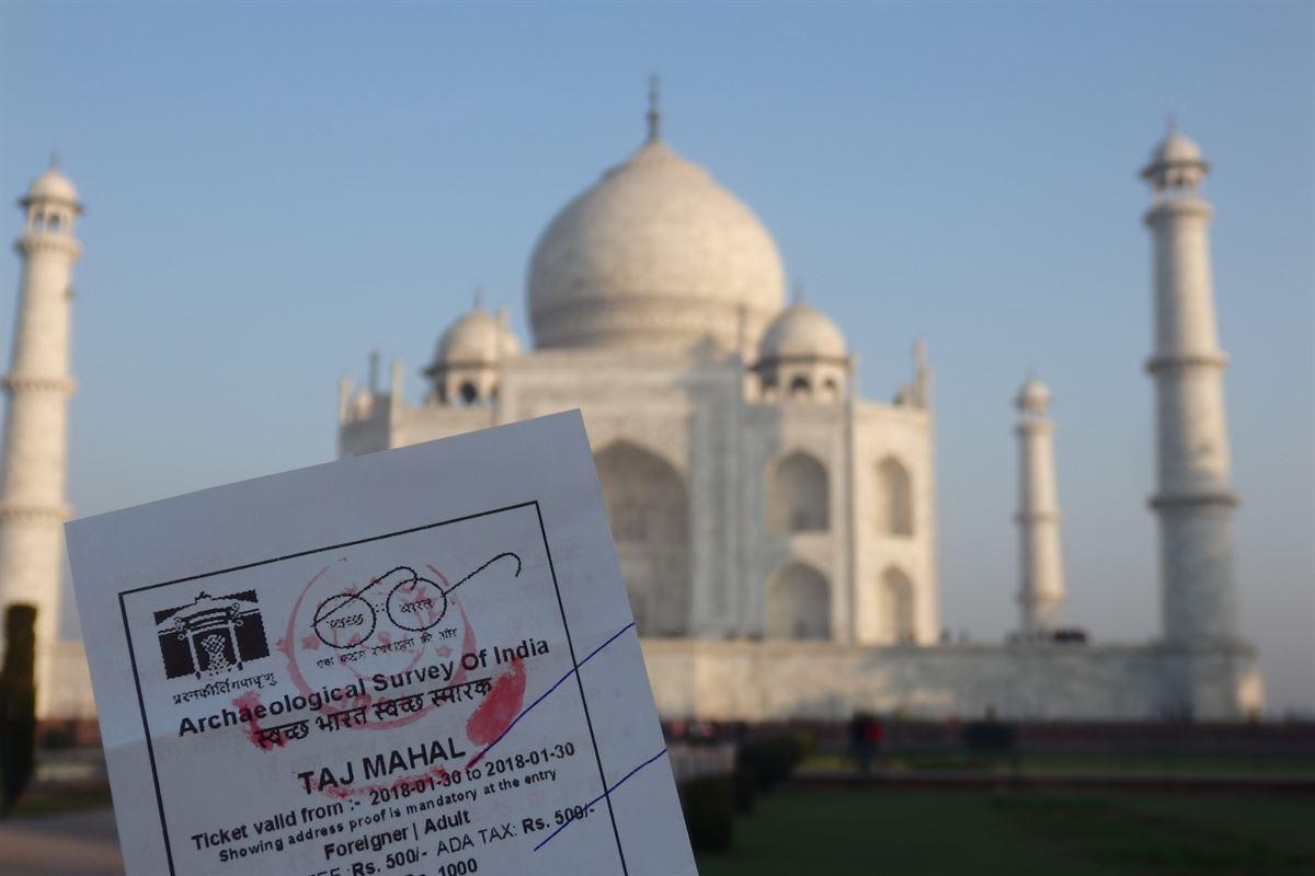 Ingressos para o Taj Mahal