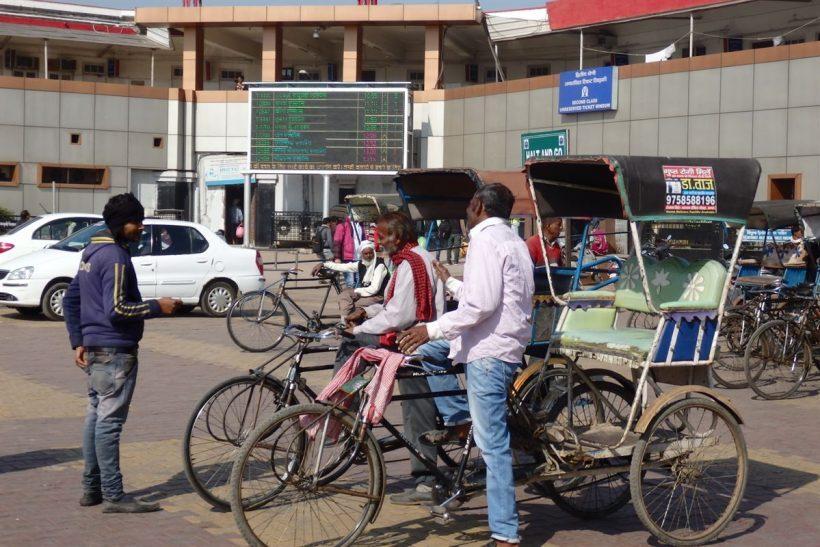 Riquixás na Índia