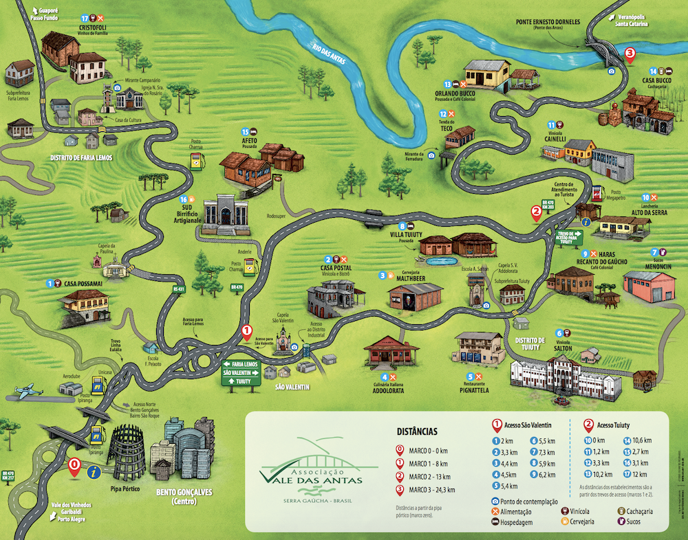 mapa roteiro vale do rio das antas bento goncalves serra gaucha