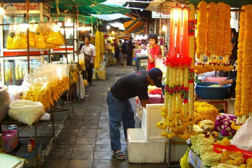 mercado flores bangkok