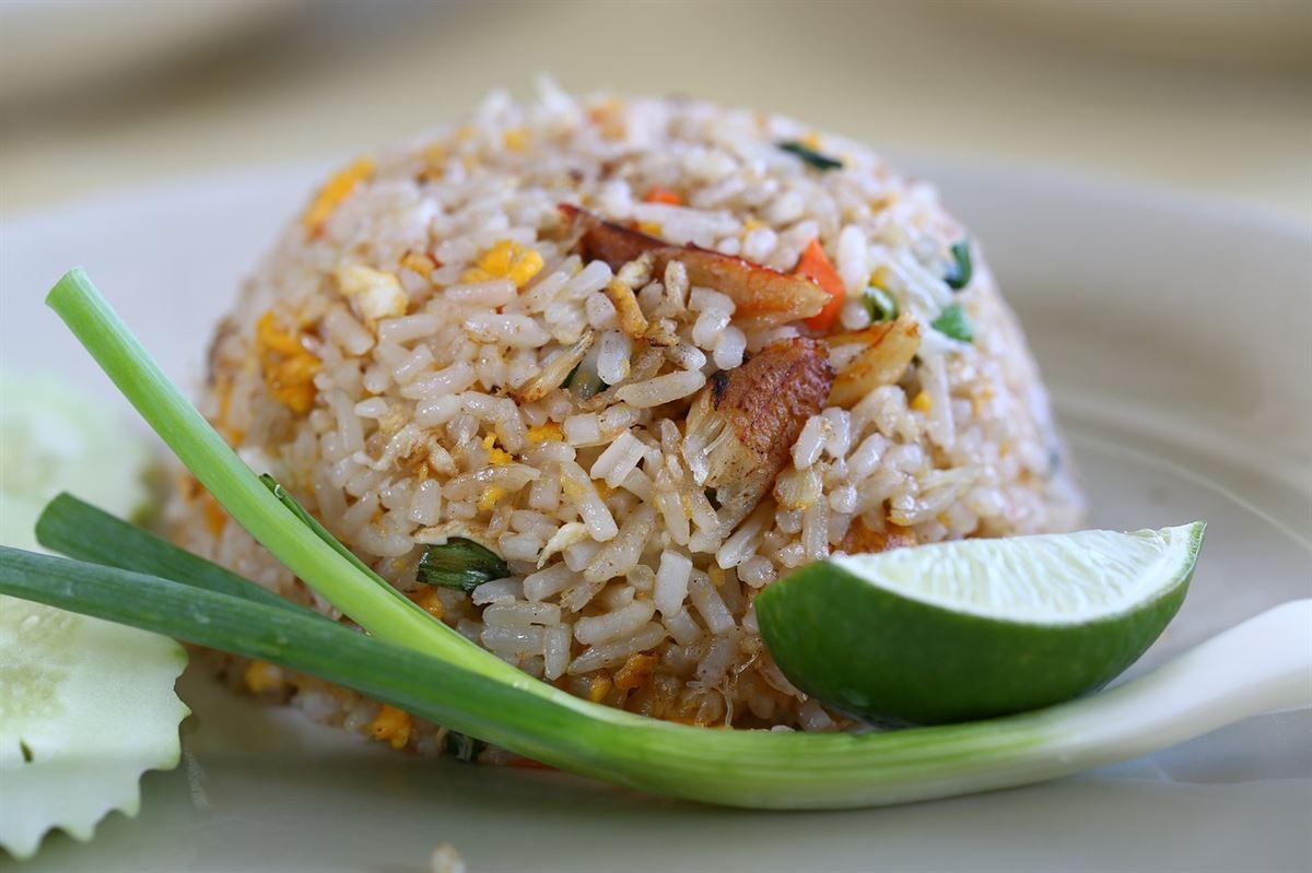Khao Pad (arroz frito), comida tailandesa
