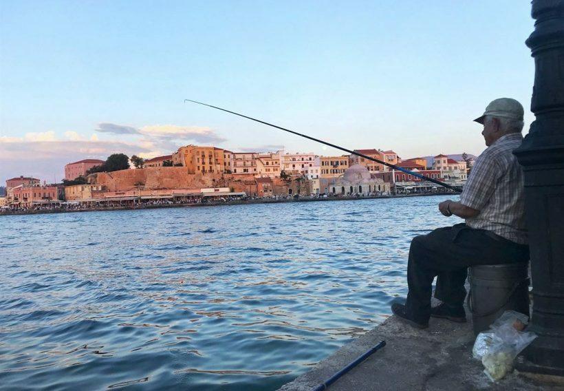 creta porto chania ilha grega