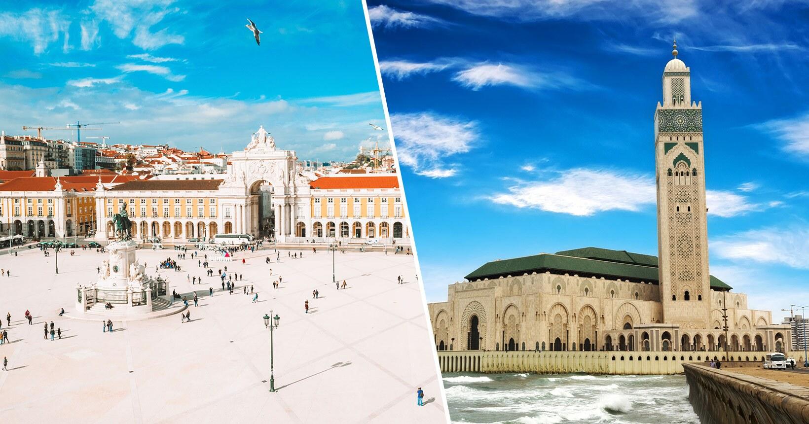 Portugal + Marrocos em Executiva! Voos para Casablanca mais Lisboa ou o Porto na mesma viagem a partir de R$ 2.958, saindo do Rio ou São Paulo!