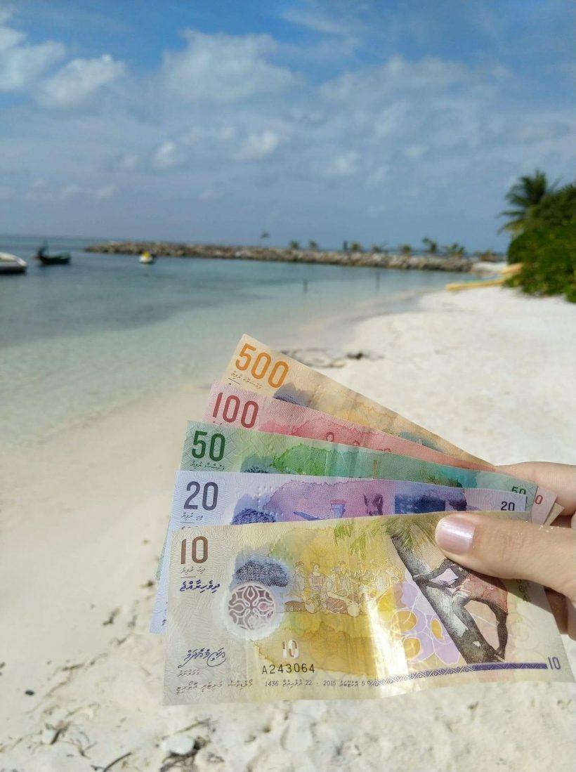 dinheiro rupias maldivas