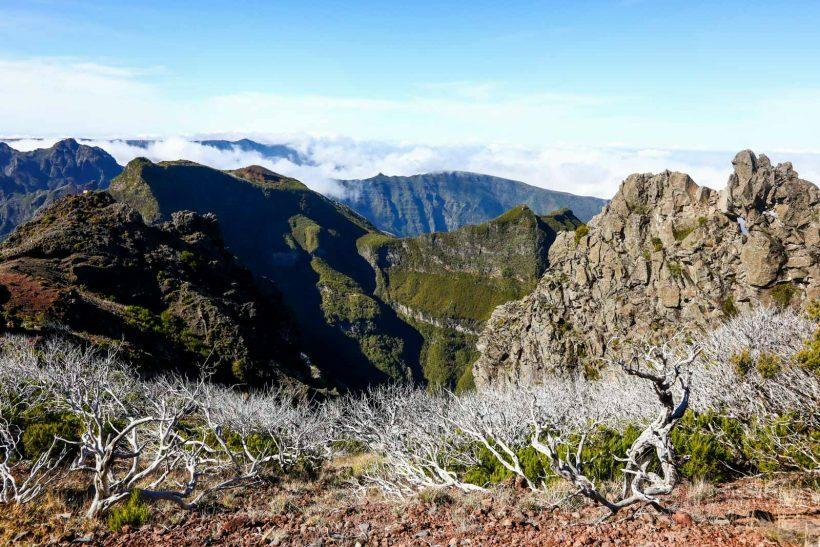 Pico Ruivo na Ilha da Madeira