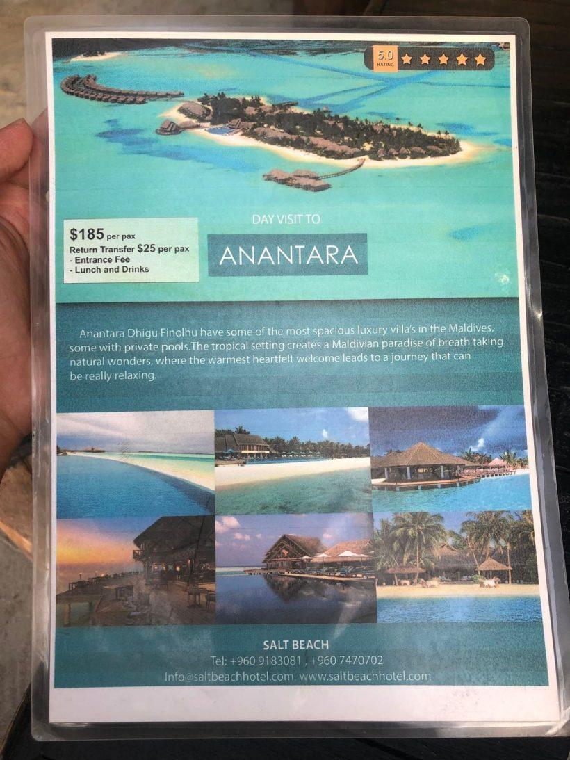 passeio day use resorts maldivas