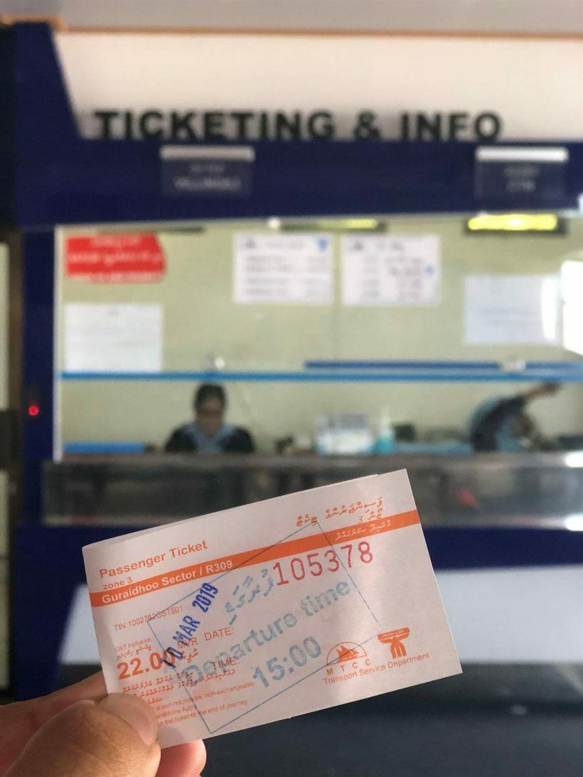 ticket barco maldivas