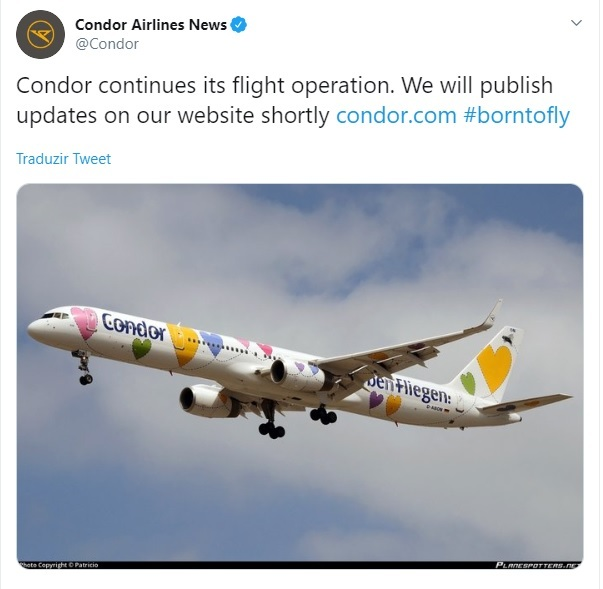 condor airlines operacao thomas cook