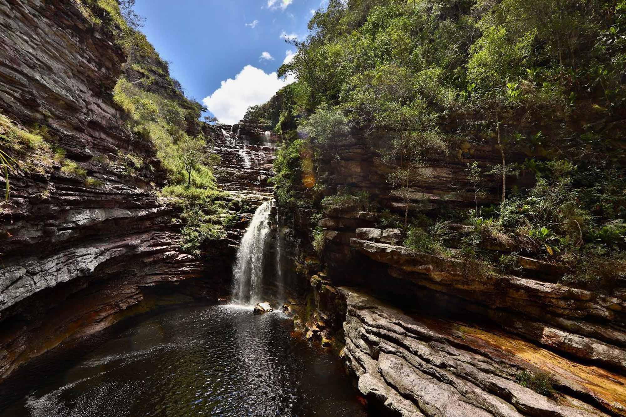 Cachoeira do Sossego na Chapada Diamantina