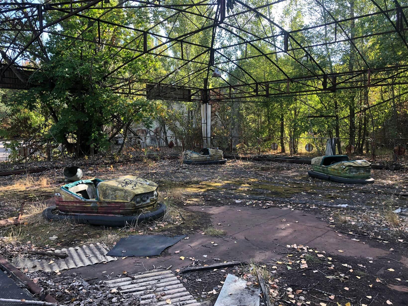 Parque de diversões abandonado em Chernobyl