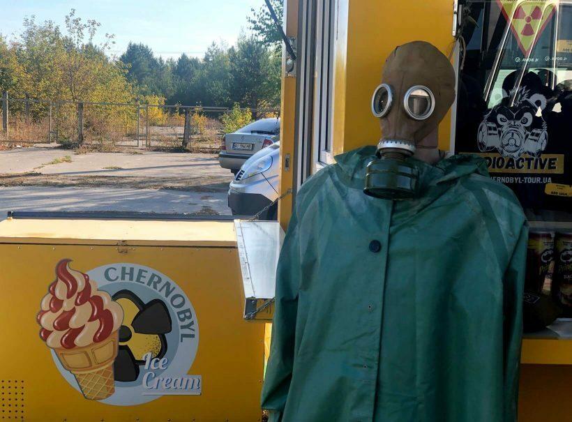 Máscara em Chernobyl