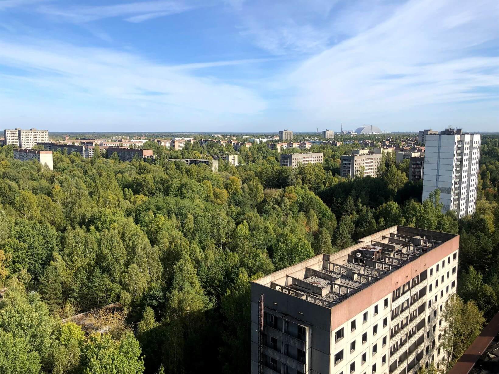 Vista panorâmica Pripyat Chernobyl