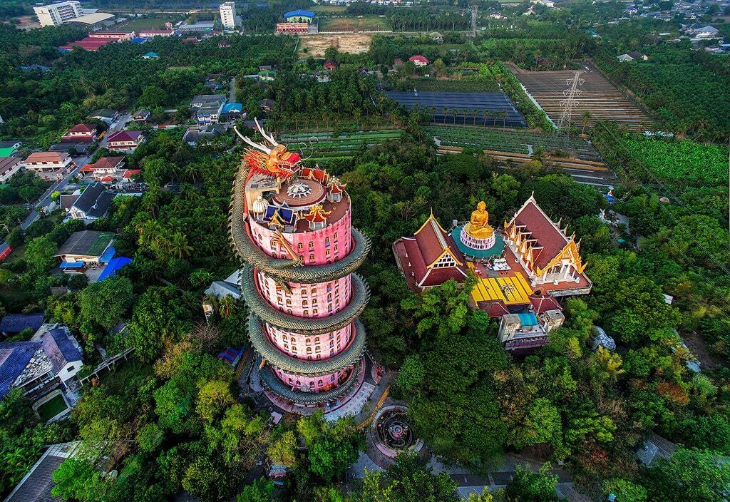 templo dragao wat samphran tailandia