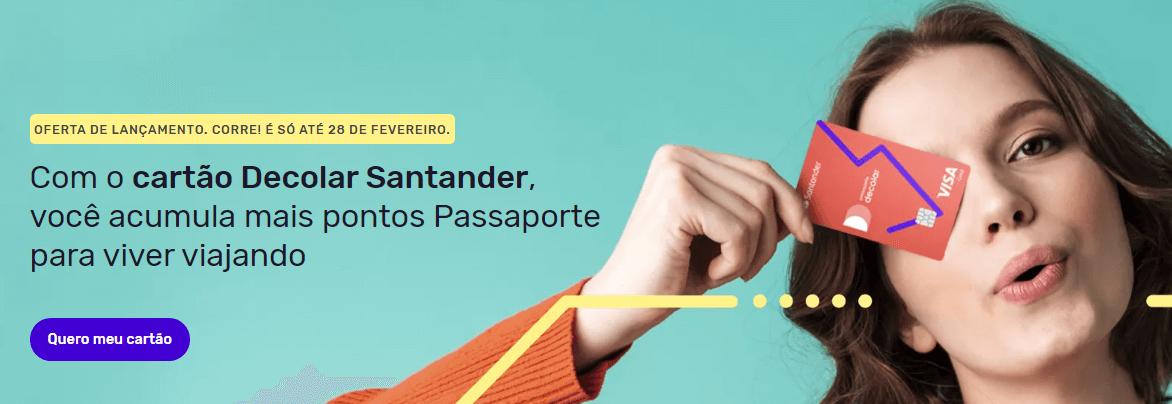 Cartões Santander Decolar Visa