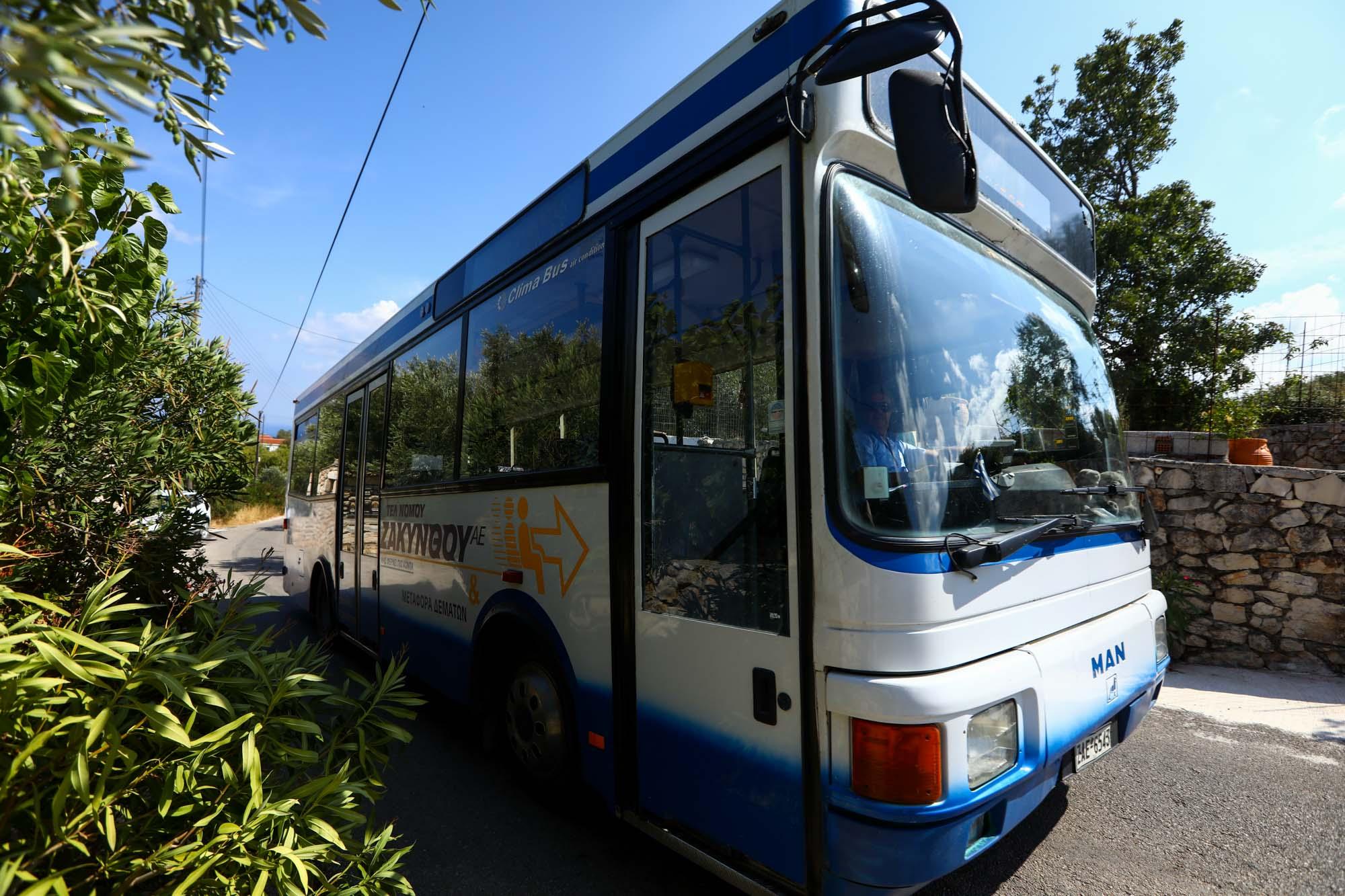 Transporte público em Zakynthos
