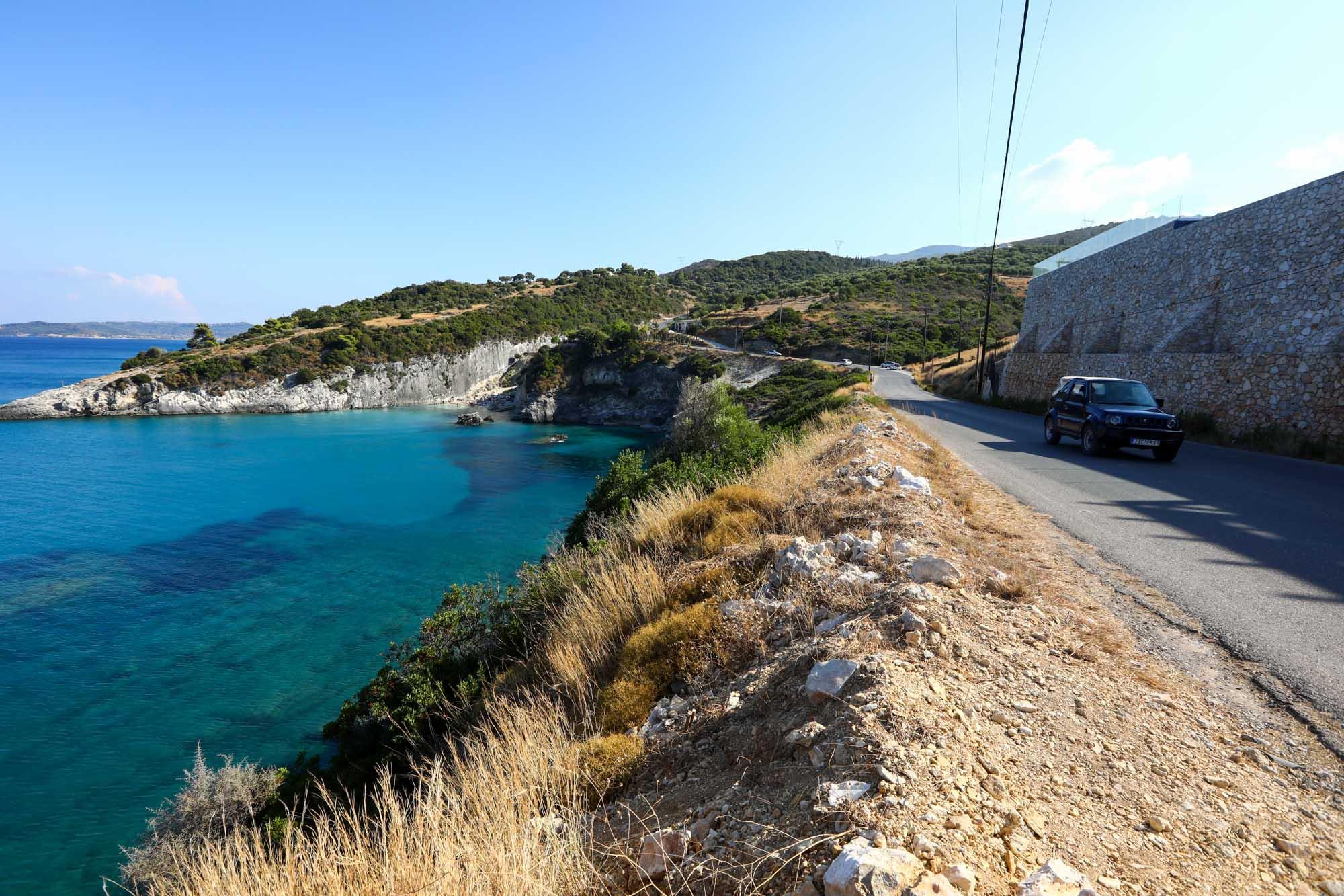 Estradas em Zakynthos