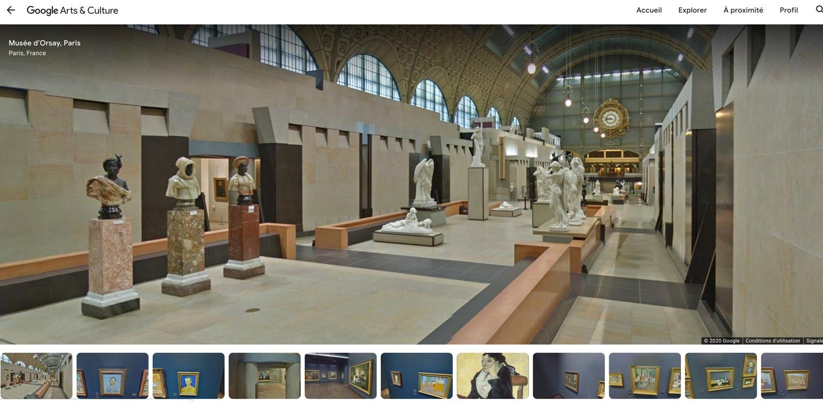 Reprodução do site do Museu d'Orsay no Google Arts & Culture.