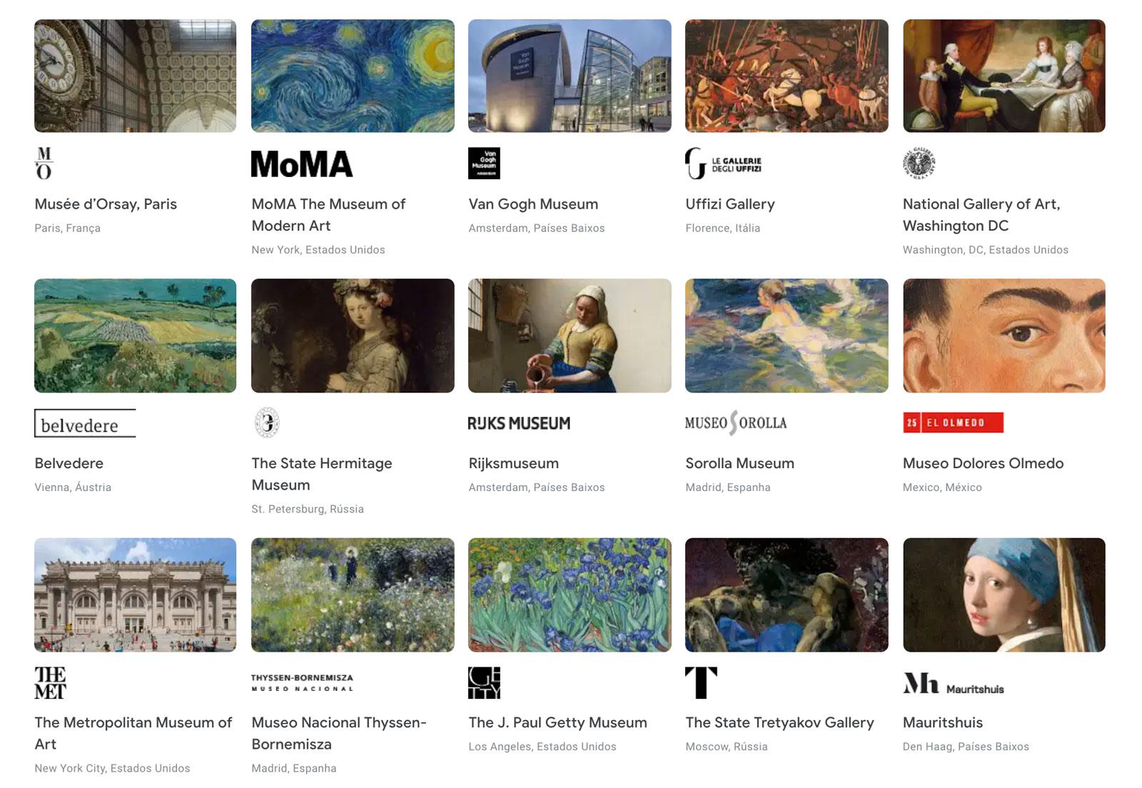 Reprodução do Google Arts & Culture.