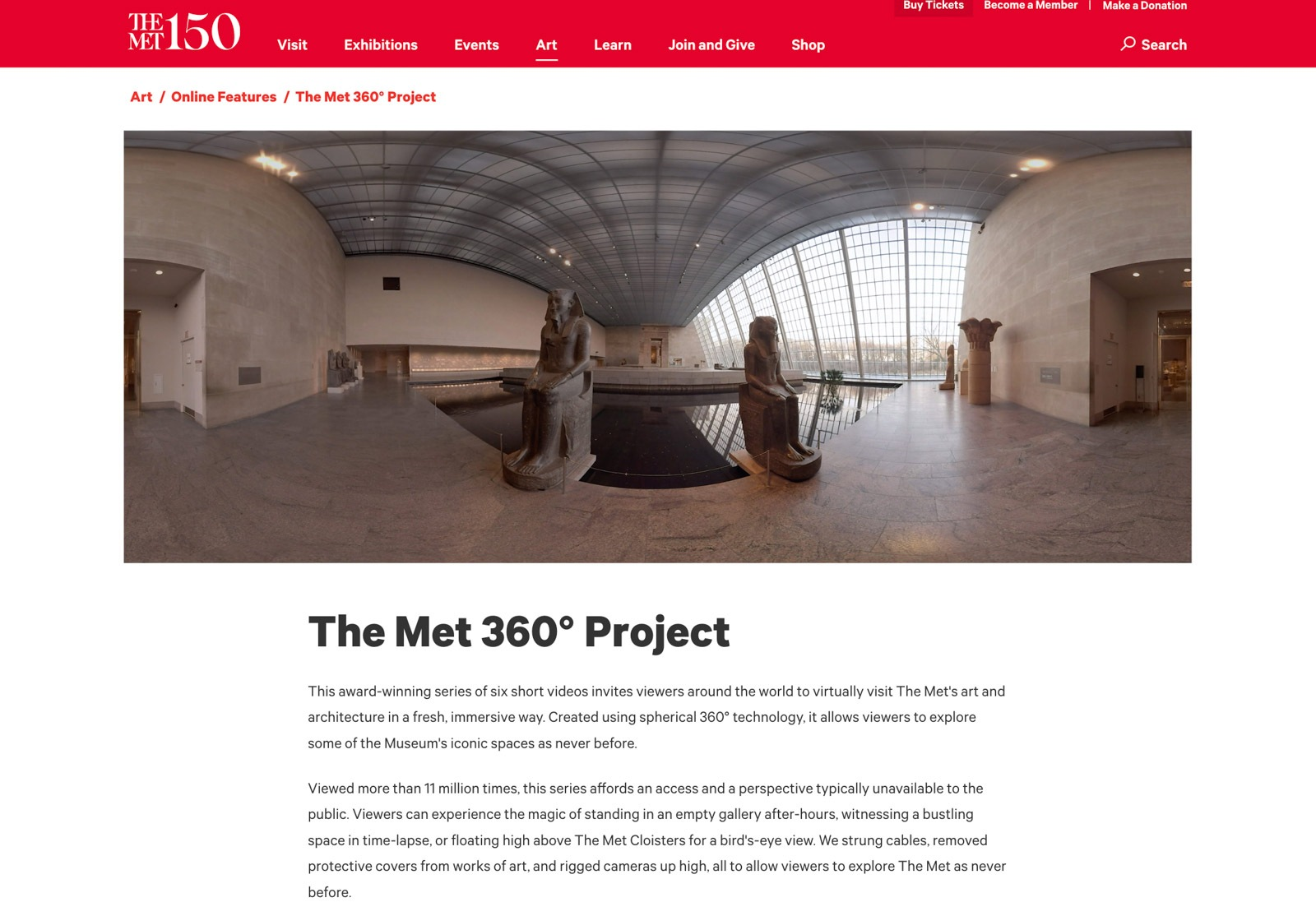 Site oficial do MET