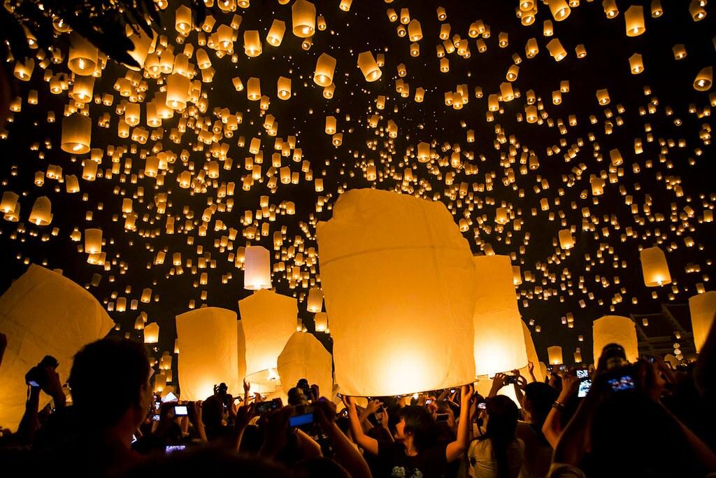 Festival das Lanternas na Tailândia