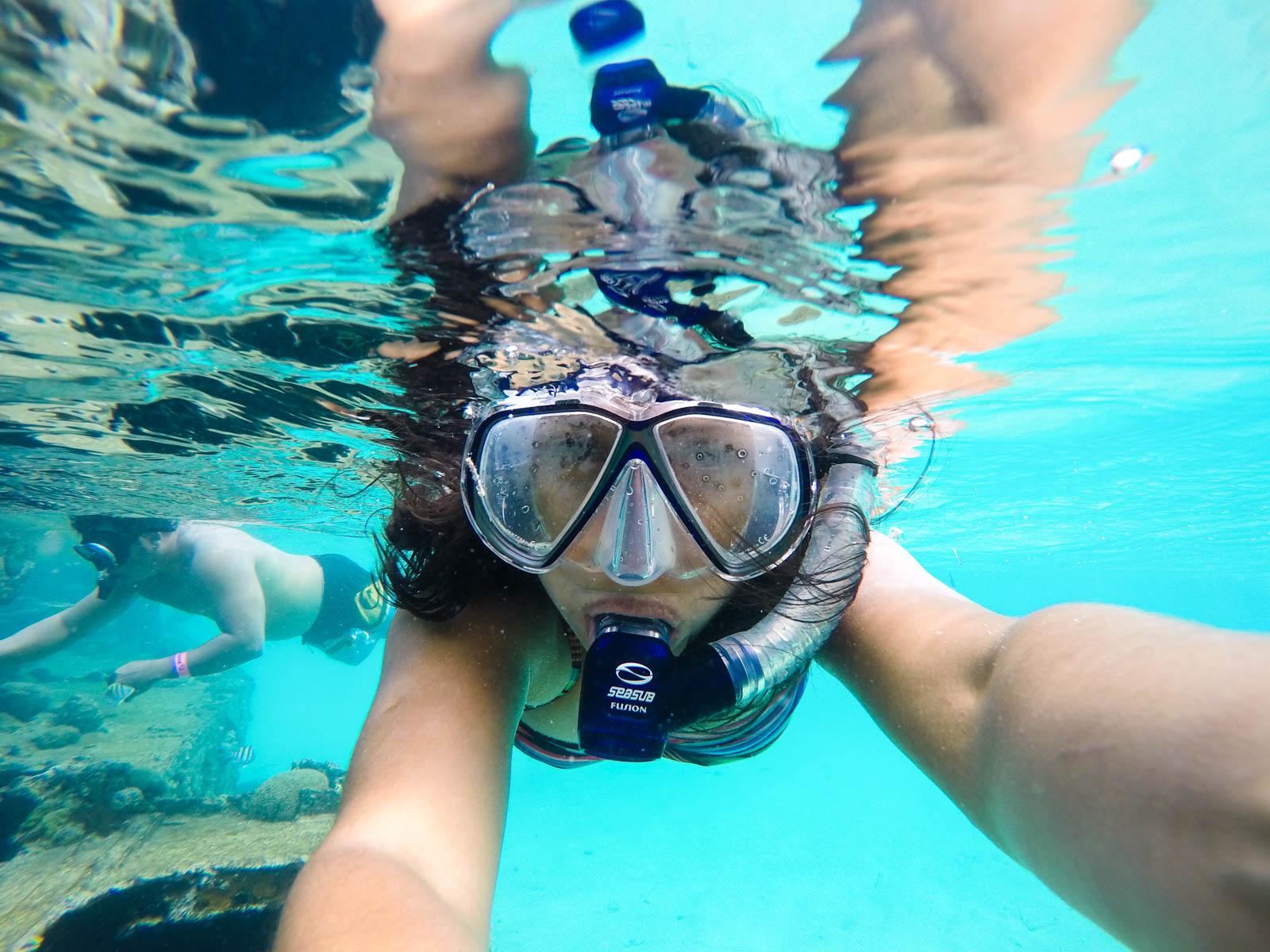 Máscara e snorkel para destinos onde é possível o mergulho, como San Blas, no Panamá