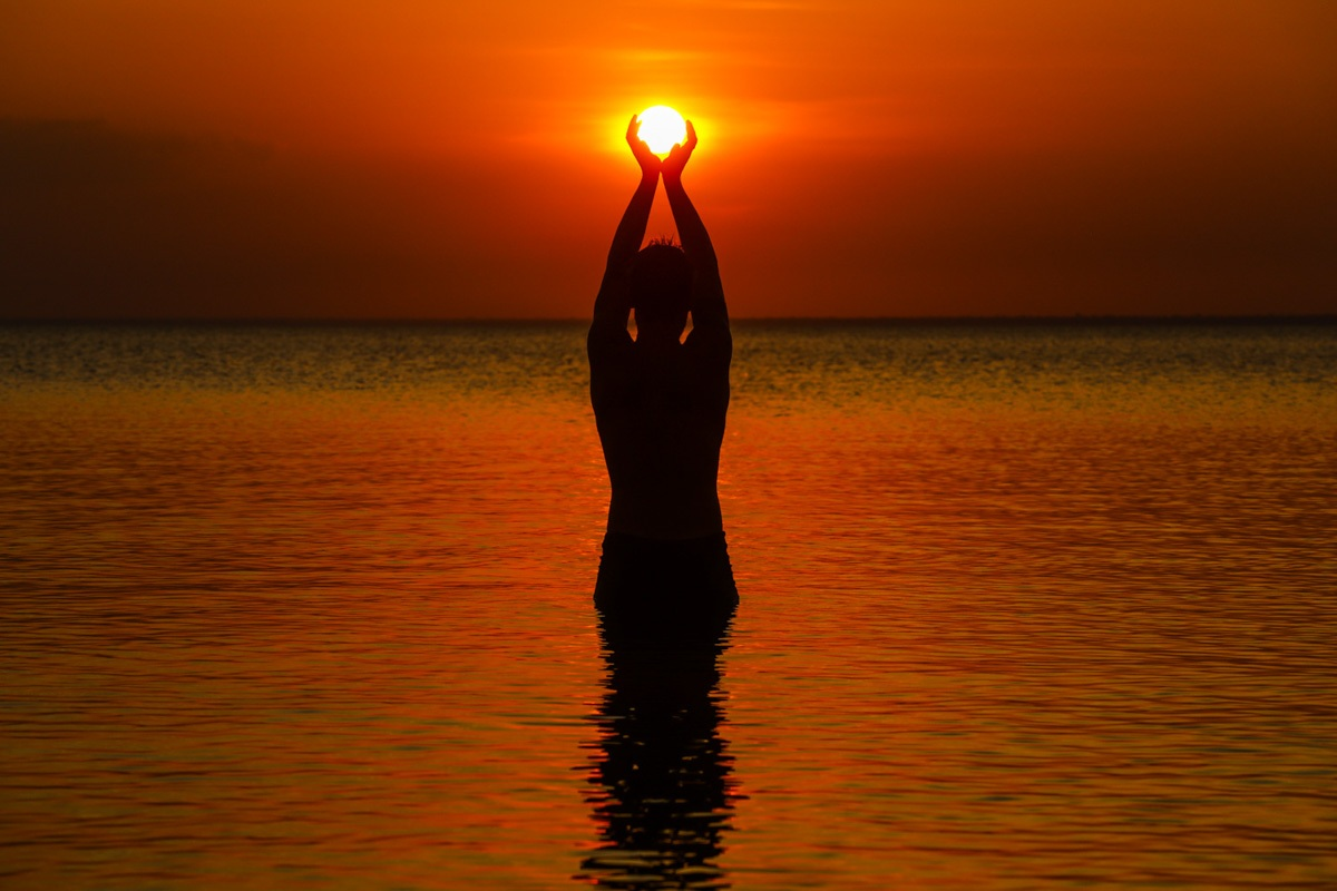 Pôr do sol em Alter do Chão