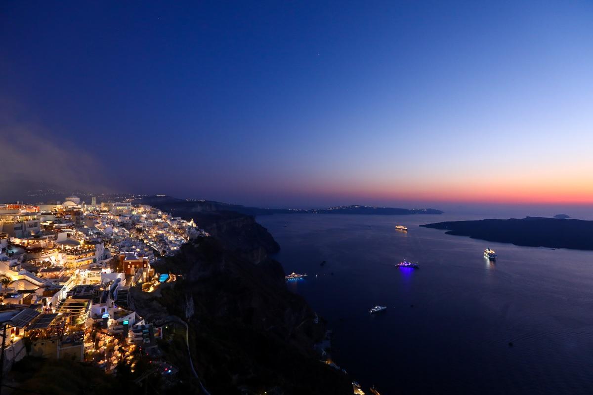Pôr do sol em Santorini sem uso do HDR