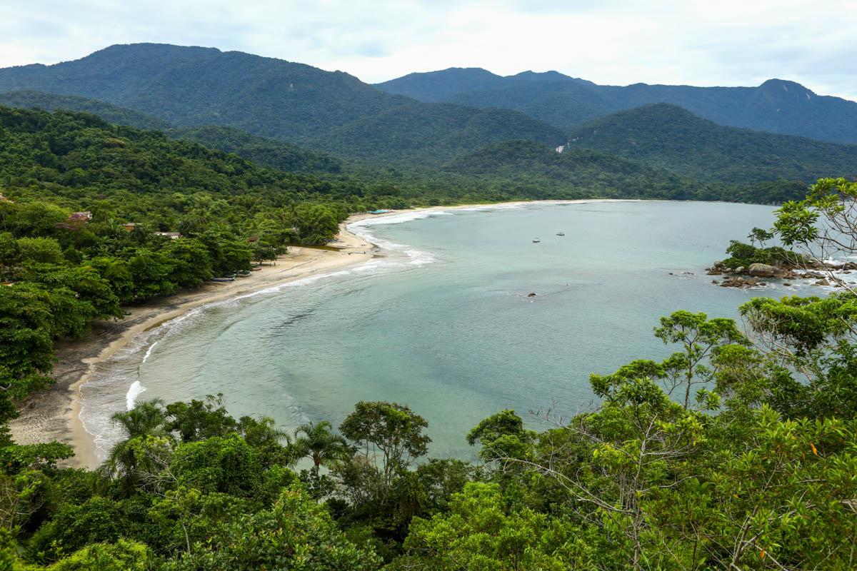 Praia de Castelhanos em Ilhabela