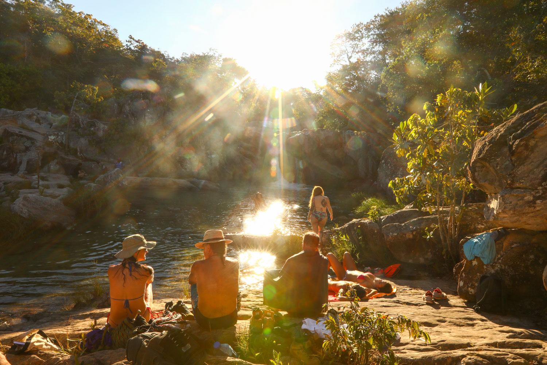 Poço superior da Cachoeira da Capivara