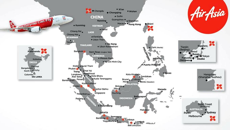mapa rotas airasia