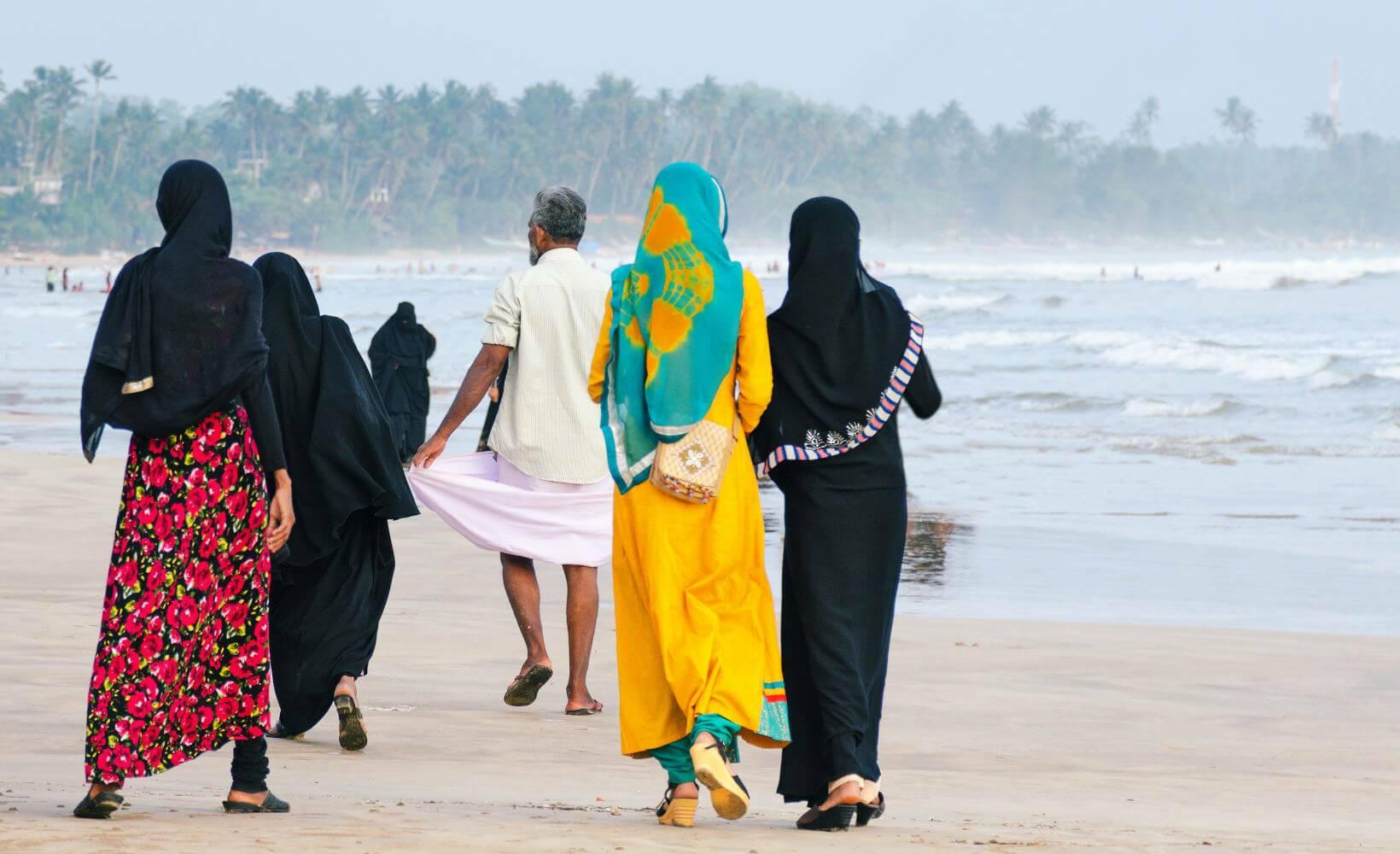 Muçulmanos na praia