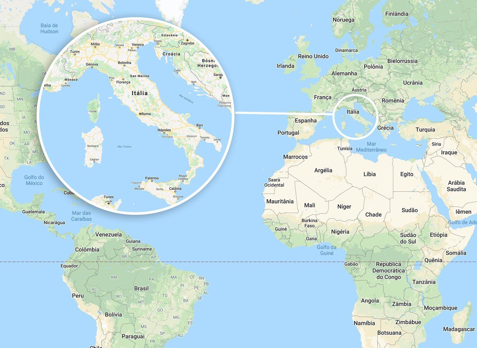 mapa da italia